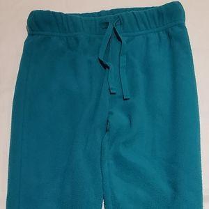 Turquoise fleece leggings